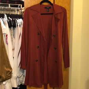 Belted longline jacket / collar trench